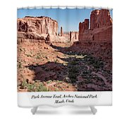 Park Avenue Trail, Arches National Park, Moab, Utah Shower Curtain