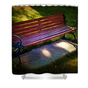 Park Bench Shower Curtain