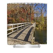 Park Bridge Autumn 2 Shower Curtain