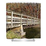 Park Bridge Autumn 3 Shower Curtain