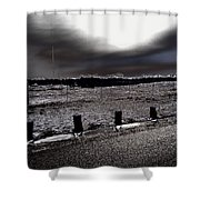 Park In The Moonlight Shower Curtain