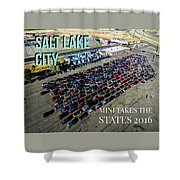 Park / Salt Lake City Rise/shine 1 W/text Shower Curtain