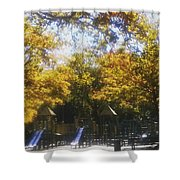 Park Slide Shower Curtain