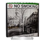 Park Street Station Sign Shower Curtain