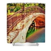 Park Walk Bridge Shower Curtain
