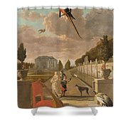 Park With Country House, Jan Weenix, 1670 - 1719 Shower Curtain