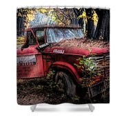 Parked On A Country Road Oil Painting Shower Curtain