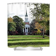 Parker Hall - Hanover College Shower Curtain