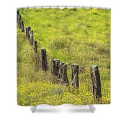 Parker Ranch Fence Shower Curtain