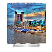 Parking Boat - Puerto Madero Shower Curtain