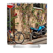 Parking Corner Shower Curtain