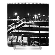 Parking Garage At Night Shower Curtain