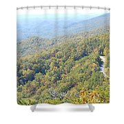 Parkway Mountains Shower Curtain
