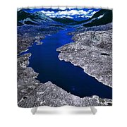 Parlament Blue Reservoir Shower Curtain