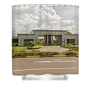 Parliament Building In Lilongwe Shower Curtain
