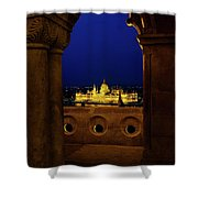 Parliament Framed Shower Curtain