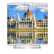 Parliament Of Budapest Shower Curtain