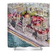 Parliment Of Hungary Shower Curtain by Charles Hetenyi