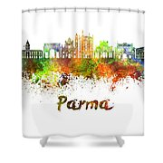 Parma Skyline In Watercolor Shower Curtain