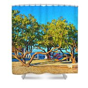Parmer's Resort At Little Torch Key Shower Curtain