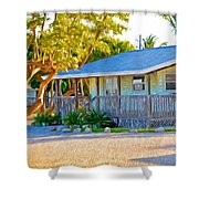Parmer's Resort Cottage In Keys Sunset Glow Shower Curtain