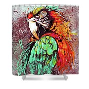 Parrot Art 09i Shower Curtain