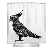 Parrot-black Shower Curtain