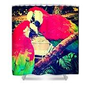 Parrot Couple Shower Curtain