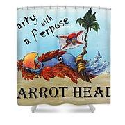Parrot Heads Shower Curtain