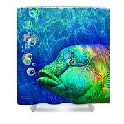 Parrotfish - Rainbow Spirit Shower Curtain