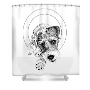 Parson Russell Terrier @elmo.parson Shower Curtain