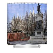 Part Of Temple Square Shower Curtain