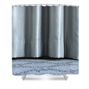Part Of The Base Of An Interior Curtain  Shower Curtain