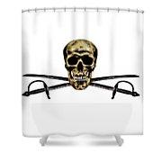 part time buccaneer_partII Shower Curtain