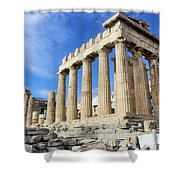 Parthenon On Acropolis In Athens Greece Shower Curtain