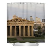 Parthenon With Nashville Skyline  Shower Curtain