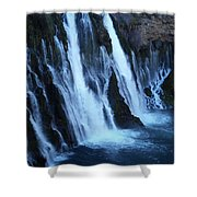 Partial Side View Of Burney Falls Ca Shower Curtain