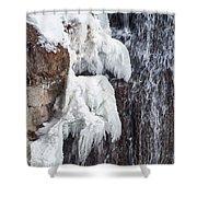 Partially Frozen Shower Curtain