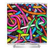 Particle Track Forty-one Shower Curtain