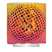 Particle Zoo Shower Curtain