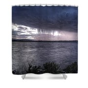 Parting Skies Over Union Reservoir Shower Curtain