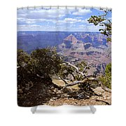 Partly Cloudy - Grand Canyon Shower Curtain