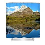 Partly Cloudy Fishercap Reflections Shower Curtain
