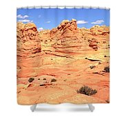Partly Cloudy Over Coyote South Shower Curtain