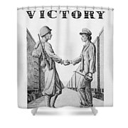Partners In Victory Shower Curtain