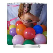 Party Balloon Shower Curtain