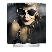 Party Fashion Pin Up Shower Curtain