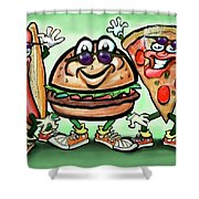Party Foods Shower Curtain