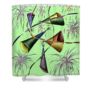 Party Hat Abstract  Shower Curtain