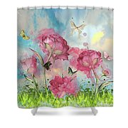 Party In The Posies Shower Curtain